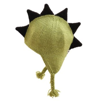 Green mohawk hat for Babies with brown spikes