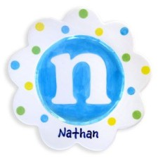 Monogram personalized boy plate