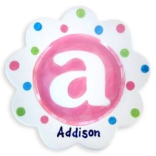 monogram girl personalized plate