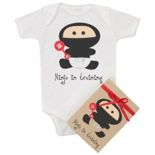 Ninja Onesie in Organic Cotton