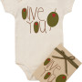 olive you organic onesie for baby