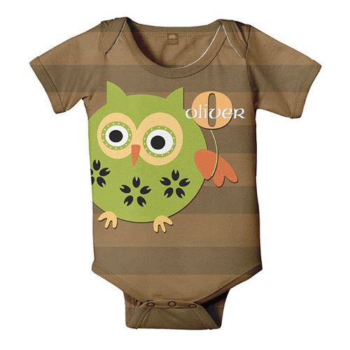 8d7e0b6c6 Owl personalized onesie from myretrobaby.comMyretrobaby.com