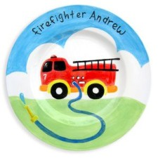 Fire Truck Personalized Kids Plate