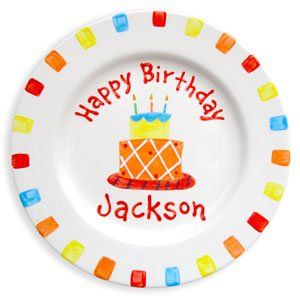 Personalized Birthday Boy Plate for Kids