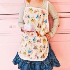 mommy daughter retro kids apron