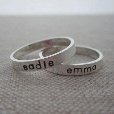 Personalized Mothers Rings