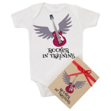 rocker in training onesie - organic cotton