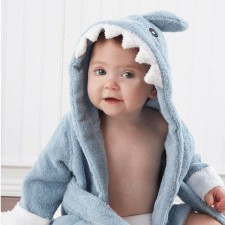 Blue Shark Baby Robe