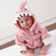 Pink Shark Baby Bath Robe