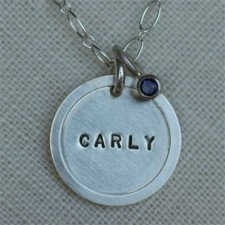 Personalized Sterling Silver Necklace