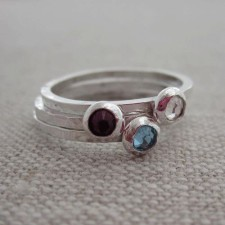 simple birthstone rings