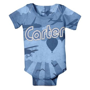 flying objects personalized onesie