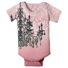 chandelier personalized onesie