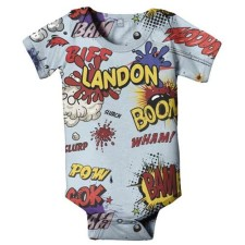 comics superhero personalized onesie