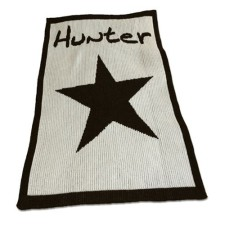 personalized stroller blanket with star