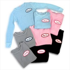 name patch thermals for babies and kids