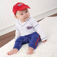 baseball all star baby layette set