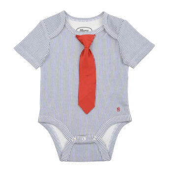 Striped Little Man Tie Onesie