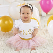 Girls Baby First Birthday Outfit