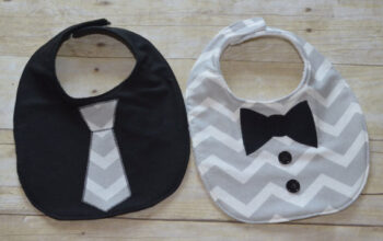 Little Man Bib Set for Baby Boy