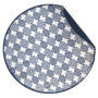 Round Baby Blanket in Navy Print