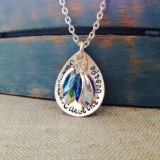 Teardrop Personalized Moms Necklace