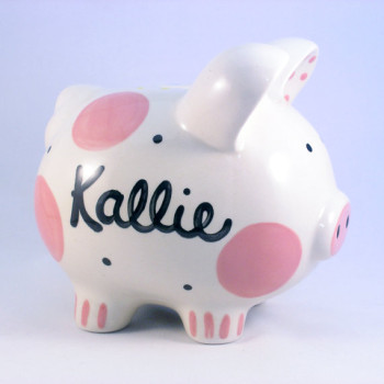 Pink Piggy Bank for kids