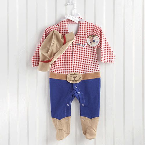 New! Sweet Baby Cowboy Layette Set makes the perfect gift for the little buckaroo! Newborn gifts and themed baby gifts at My Retro Baby - coolest baby stuff on the planet! Check out our unique Baby Gifts today!