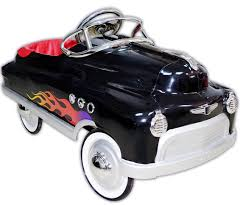 Black Hot Rod Pedal Car for Kids from MyRetroBaby.com