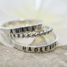 Personalized Name Ring Set for Mom