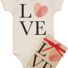 organic love fingerprint onesie