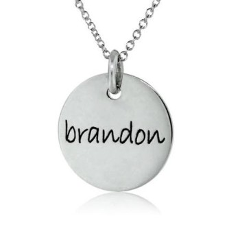 One Disc Name Necklace