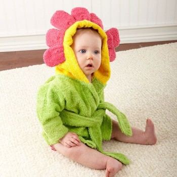 Pretty as a Flower Hooded Robe for Baby