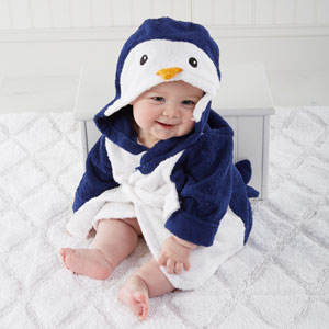 Penguin hooded robe for baby