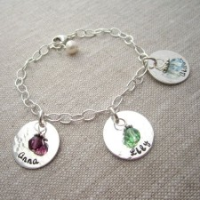 personalized charm bracelet for moms