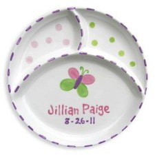 Butterfly Ceramic Divided Plate