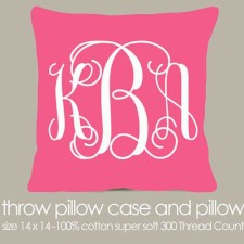 Monogram Throw Pillow
