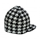 houndstooth reversible visor beanie for baby