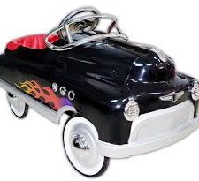 Black Hot Rod Pedal Car for Kids- Comet Car