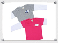 Name patch layered tees for kids