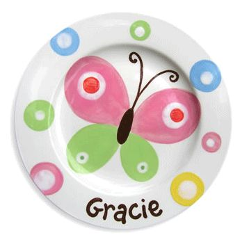 butterfly sky personalized plate