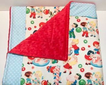 candy kids quilted baby blanket