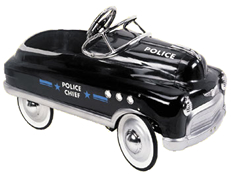 Black Police Pedal Car for Kids