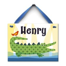 Crocodile kid wall tile