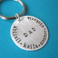 Personalized Sterling Silver Keychains