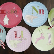 holiday personalized kids plates