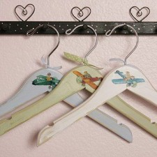 airplanes wooden hangers for kids