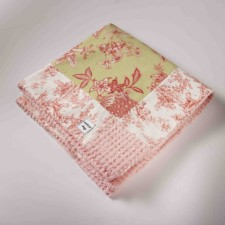 Pink Toile Blanket with Pink Chenille