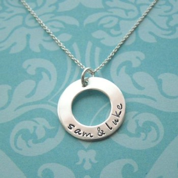 infinity delicate circle necklace