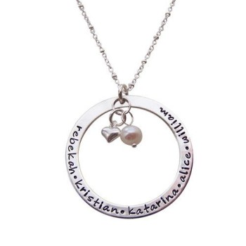 infinity personalized charm mom necklace